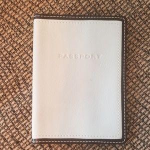Coach brand cream leather passport cover